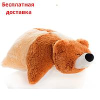 Детская подушка-игрушка Мишка 45 см арлекино, фото 1