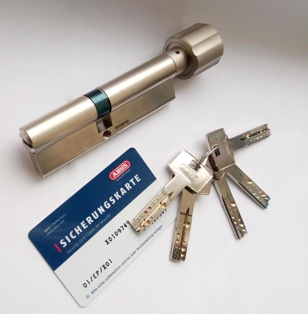 Цилиндр Abus M12R 70мм (35х35) T Ключ-вертушка 5 кл. Матовый хром