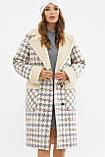 Женское пальто зимнее гусиная лапка серое ПД-14-100, фото 2