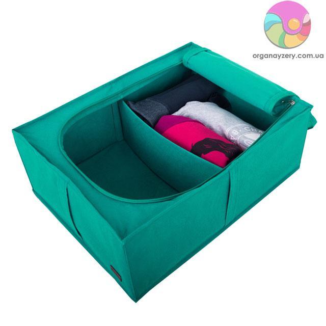 Короб для хранения вещей со съемной перегородкой (лазурь)