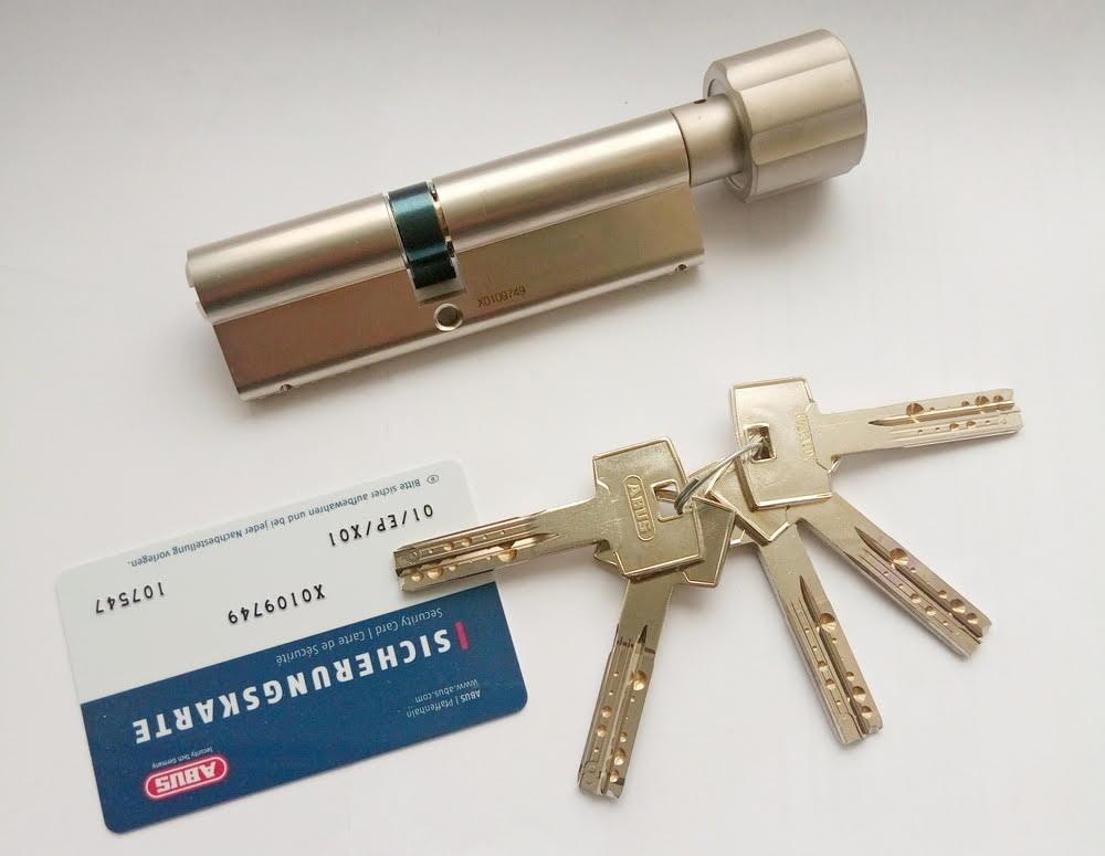 Цилиндр Abus M12R 120мм (55х65T) T Ключ-вертушка 5 кл. Матовый хром