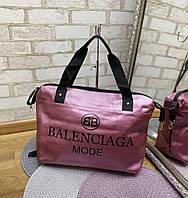 Женская спортивная дорожная сумка небольшая через плечо фиолетовая кожзам, фото 1