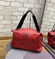 Женская спортивная дорожная сумка небольшая через плечок расная кожзам, фото 1