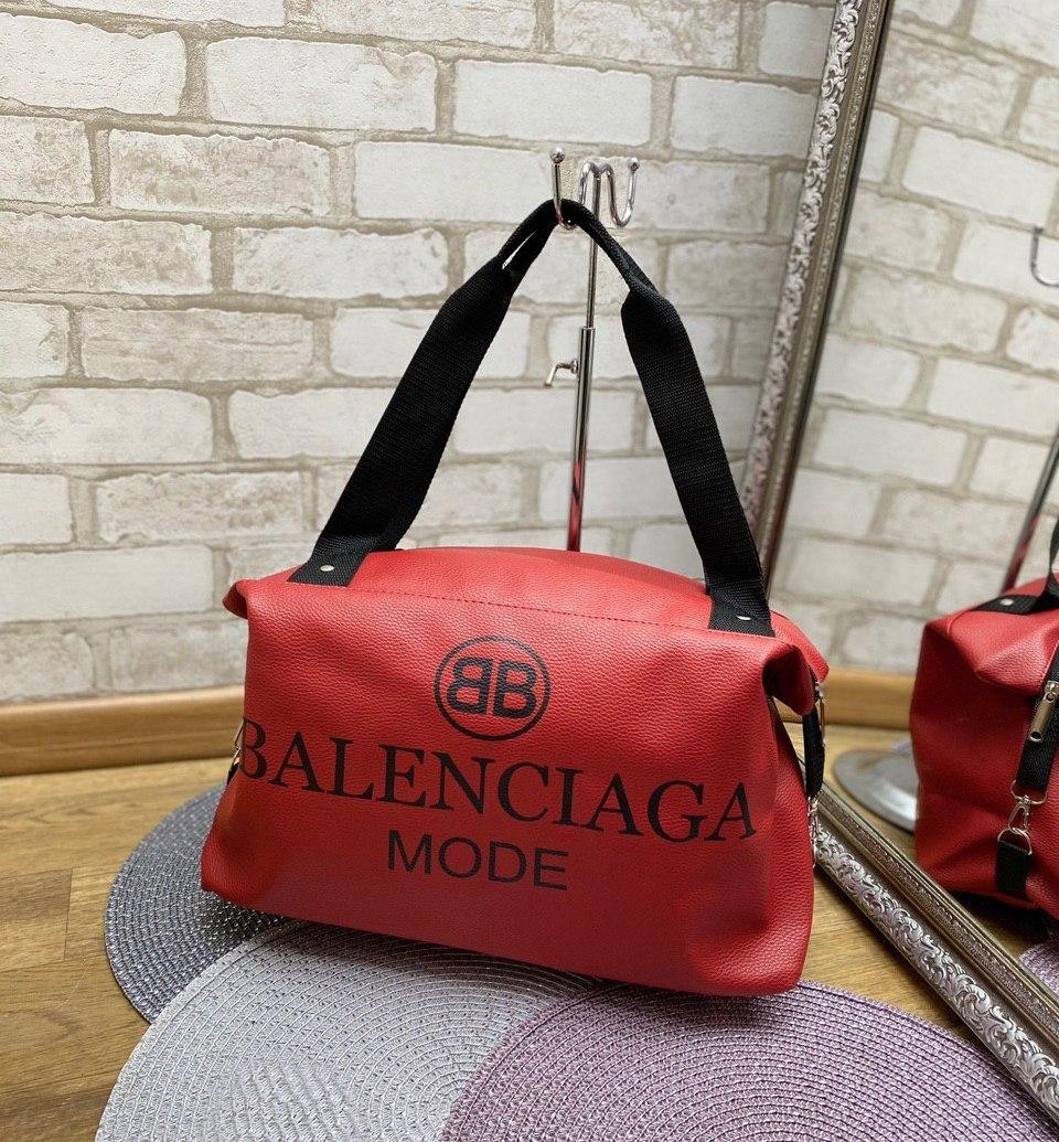 Женская спортивная дорожная сумка небольшая через плечок расная кожзам