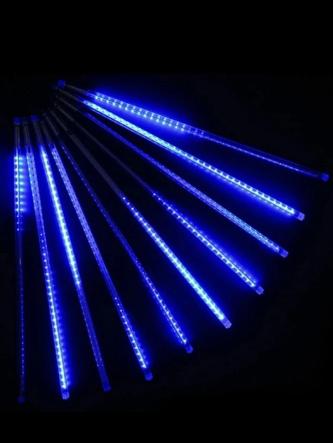 Гирлянда Тающие сосульки LED 50 см синие 8 шт | Новогодние гирлянды