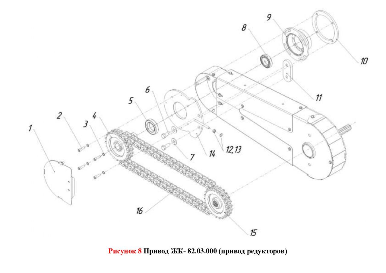 Привод ЖК- 82.03.000 (привод редукторов)