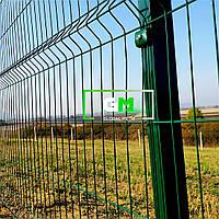Секционный забор (панельное ограждение) 1х2.5 м, 4/4 мм, секционное сварное ограждение 3D (секции забора)