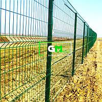 Секционный забор (панельное ограждение) 1.2х2.5 м, 4/4 мм, секционное сварное ограждение 3D (секции забора)