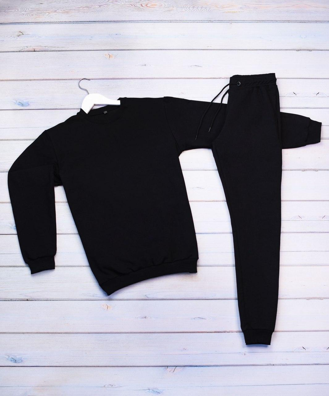 Мужской спортивный костюм реглан черный