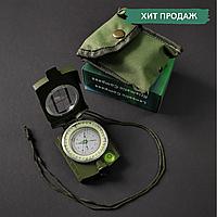Компас жидкостный армейский металлический с визиром туристический Zelart Оливковый (АРМК4580)