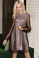 Женское нарядное платье Пудровый