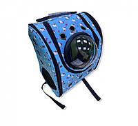 Рюкзак-иллюминатор, кожа, 39х33х22 Kitty голубой