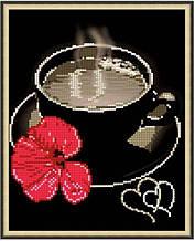 Вишивка бісером, Канва квіти троянда Вечірня кава