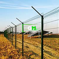 Секционный забор (панельное ограждение) 2.4х2.5 м, 4/4 мм, секционное сварное ограждение 3D (секции забора)