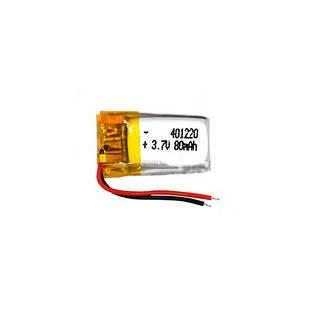 Аккумулятор 401220 Li-pol 3.7В 80мАч для MP3 Bluetooth наушников гарнитур