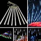 Гирлянда Тающие сосульки LED 50 см синие 8 шт | Новогодние гирлянды, фото 6