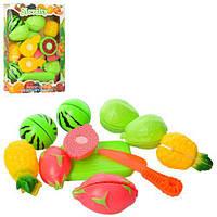 Продукты 4421 (120шт) на липучке, фрукты, 8шт, досточка, нож, в кор-ке, 18,5-27-4см
