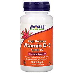 NOW Foods Vitamin D-3 1000 IU 180 Softgels