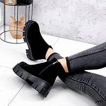 Ботинки черные замшевые внутри набивная шерсть, фото 3