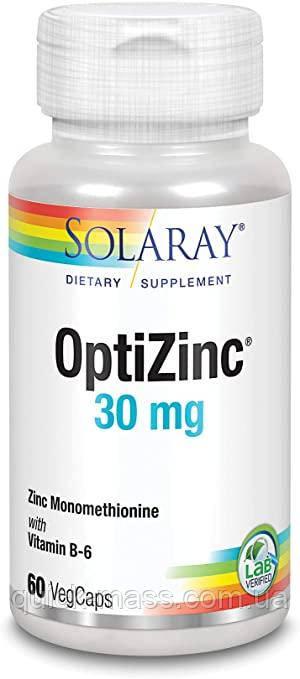 Цинк для иммунитета Solaray OptiZinc 30mg 60caps