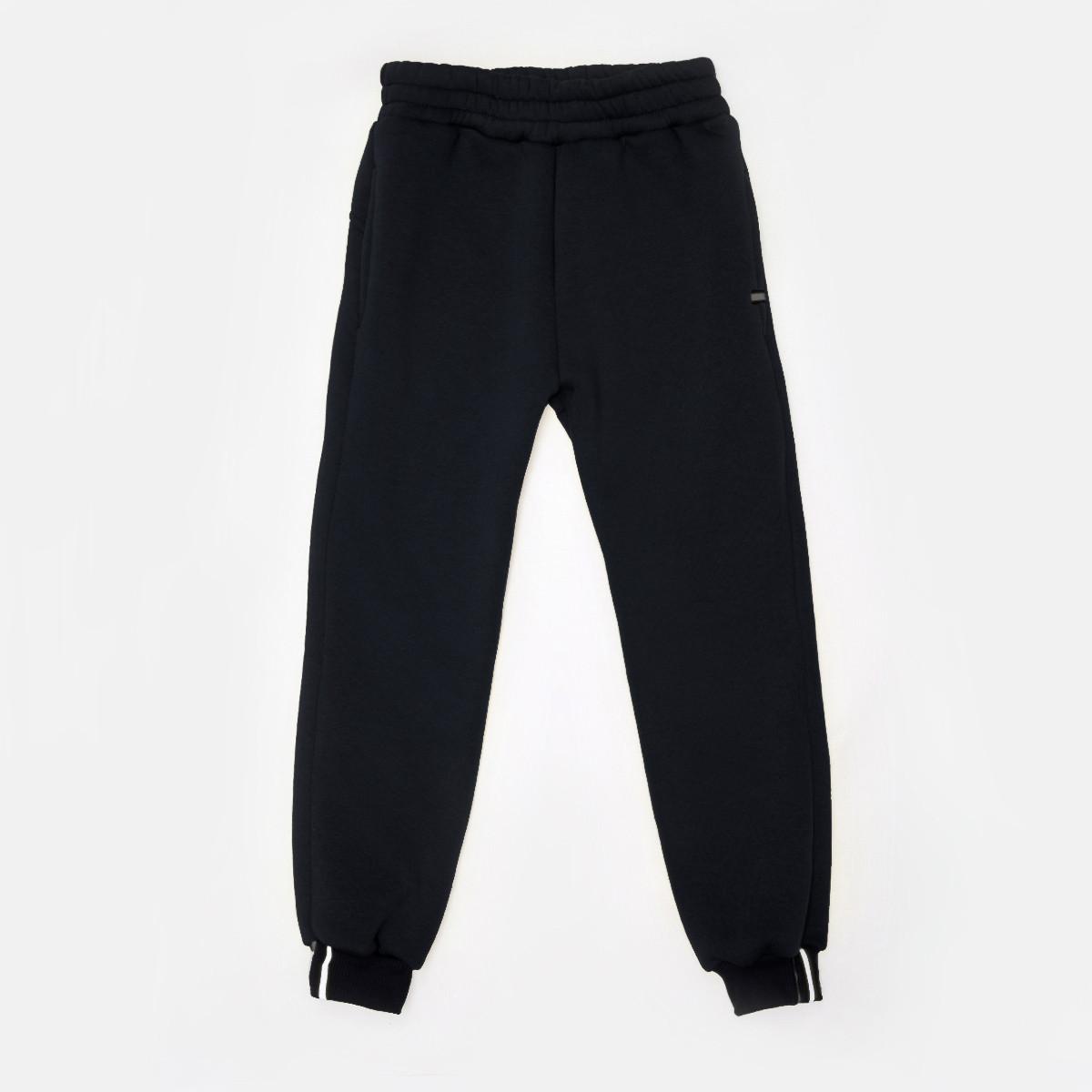 Черные спортивные штаны р.152,158,164 утепленные SmileTime для мальчика Novel, черные