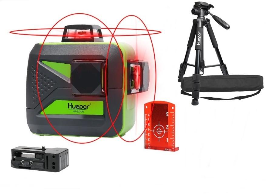 ☀Лазерний рівень Huepar 3D HP-603CR ➤ штатив 1.4 м HUEPAR➤