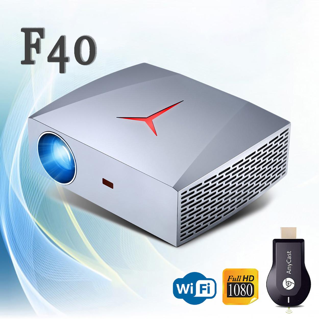 Проектор Wi-Fi Vivibright Wi-light F40 (улучшеный F30)  Full HD домашний кинотеатр кинопроектор