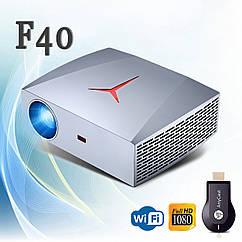 Проектор Wi-Fi Vivibright Wi-light F40 (покращений F30) Full HD домашній кінотеатр кінопроектор