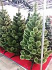 Сосна искусственная Распушенная зеленая 2.2 м, новогодняя зеленая сосна жилка-ПВХ с подставкой, фото 2