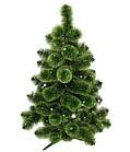 Сосна искусственная Распушенная зеленая 2.2 м, новогодняя зеленая сосна жилка-ПВХ с подставкой, фото 4