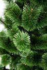 Сосна искусственная Распушенная зеленая 2.2 м, новогодняя зеленая сосна жилка-ПВХ с подставкой, фото 5