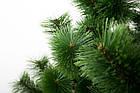 Сосна искусственная Распушенная зеленая 2.2 м, новогодняя зеленая сосна жилка-ПВХ с подставкой, фото 6