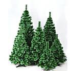 Сосна искусственная Распушенная зеленая 2.2 м, новогодняя зеленая сосна жилка-ПВХ с подставкой, фото 8