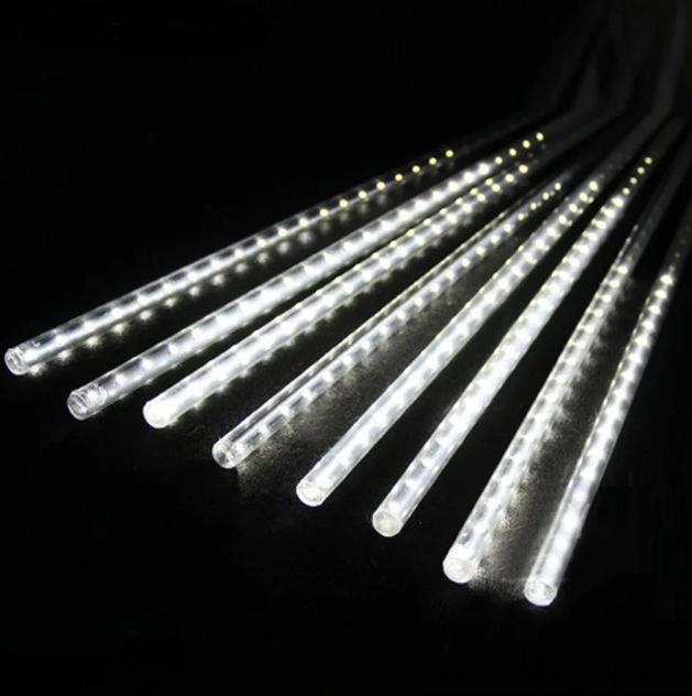 Гирлянда Тающие сосульки LED 50 см белые 8 шт | Новогодние гирлянды