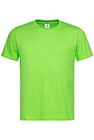 Футболка Stedman Classic Men мужская хлопковая 155 г/м2 светло-зелёная