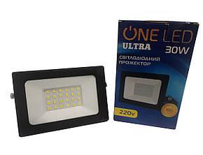 Прожектор светодиодный 30W ONE LED 6400K IP65, фото 2