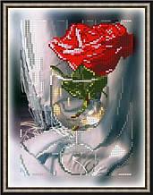 Вишивка бісером, Канва квіти натюрморт троянда Трояндочка в келиху