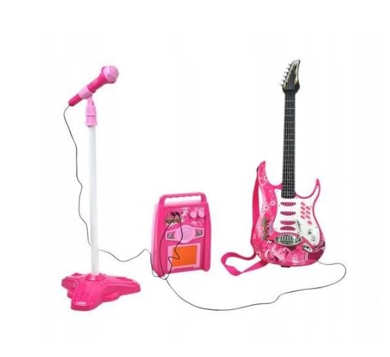 Детская электрогитара + микрофон + усилитель G 4709