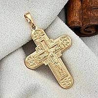 Хрестик xuping довжина 3.5 см медичне золото позолота 18К к305