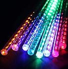 Гирлянда Тающие сосульки LED 50 см мультиколор 8 шт | Новогодние гирлянды, фото 5