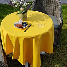 Тканина для Скатертин Жовта з просоченням Тефлон-180 Однотонна Туреччина 180см ширина, фото 3