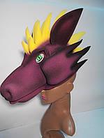 Маскарадна шапка-маска Дракона для дітей і дорослих