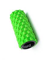 Роллер для занятий йогой и пилатесом зелёный  Ecofit MDF017 14*33см