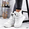 Ботинки белые женские   эко-кожа  эко-замша, фото 2