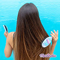 Мечты единорога магическая расческа для волос розовая (голубая, радужная) (20291R), фото 2