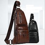 Кожаная мужская сумка через плечо Jeep 777 Bag, фото 6