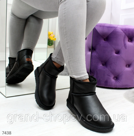 UGG уггі РОЗМІР 41 жіночі чорні угі чоботи теплі шкіряні зимові