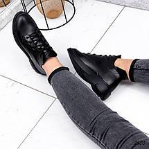 Ботинки  низкие черные кожаные, фото 2