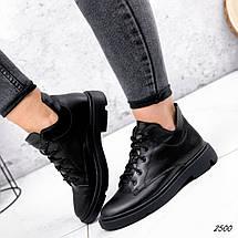 Ботинки  низкие черные кожаные, фото 3
