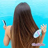 Мрії єдинорога магічна гребінець для волосся блакитна (20291R), фото 3